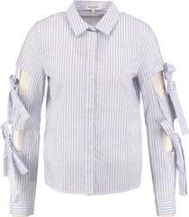 morgan blauw gestreepte blouse