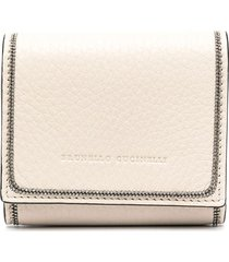 brunello cucinelli studded wallet - neutrals