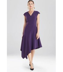 natori crepe asymmetrical dress, women's, size 0