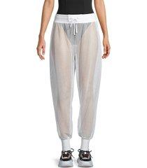 blanc noir women's poolside mesh jogging pants - limelight - size xs