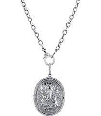 sheryl lowe ganesh coin pendant necklace, size 41 in in sterling silver at nordstrom