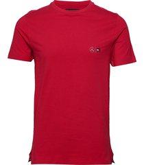 2 mb tech cneck tee t-shirts short-sleeved röd tommy hilfiger