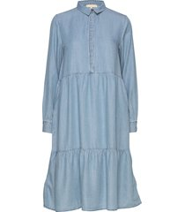 moira ls dress jurk knielengte blauw soft rebels