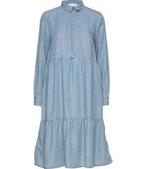 moira ls dress jurk knielengte blauw soft rebels