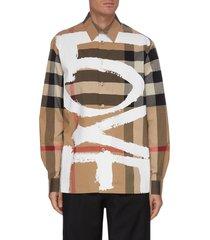 'tavistock' love graffiti print plaid shirt