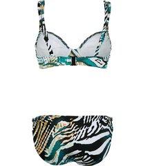 bikini sunflair petrol::vit::turkos