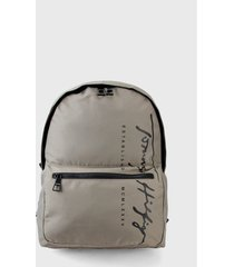 morral  taupe-negro tommy hilfiger