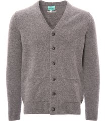 none of the above made in england knitted cardigan - grey 5885a