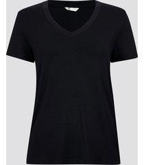 t-shirt med v-ringning - svart