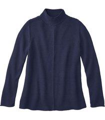 pullover met staande kraag, indigo 36/38