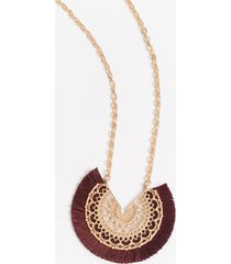 maurices womens burgundy fan pendant necklace red