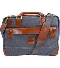 florsheim men's santino canvas messenger bag