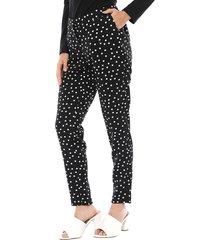 pantalón ash liso negro - calce regular