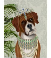 "fab funky boxer and tiara, portrait canvas art - 27"" x 33.5"""