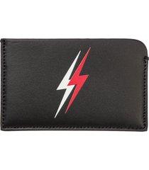 neil barrett double bolt credit card holder