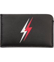 neil barrett double bolt credit card holder