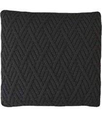 capa almofada tricot 40x40cm / 45x45cm c/zãper sofa trico cod 1025 grafite - grafite - feminino - dafiti