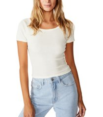 cotton on sweetheart scoop back tee