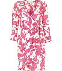 jurk met paisleyprint waves  roze