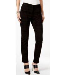 alfani flocked ponte skinny pants, created for macy's