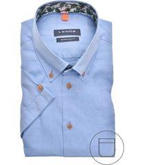 korte mouwen ledub overhemd blauw