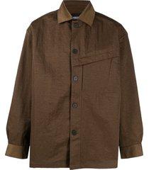 a-cold-wall* coach shirt jacket - green