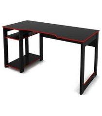 mesa gamer preto /vermelho tecno mobili