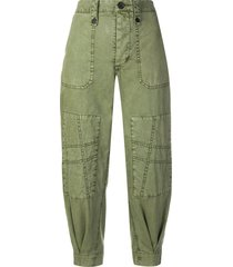 zadig & voltaire pia military trousers - green