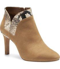 vince camuto women's larmana contrast trim dress booties women's shoes