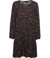 dress short 1/1 sleeve knälång klänning brun betty barclay