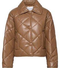 jacinda puffy jacket kviltad jacka brun stand studio