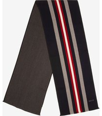 bally stripe scarf blue 1