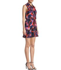 multicolor sleeveless mini dress