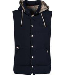 brunello cucinelli regular padded vest