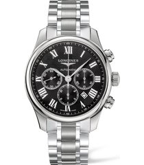 men's longines master automatic chronograph bracelet watch, 44mm