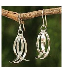 sterling silver dangle earrings, 'sea vision' (thailand)