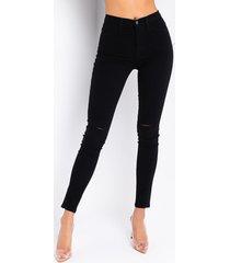 akira move along slit knee skinny jeans