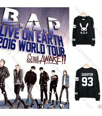 kpop bap b.a.p sweater 2016 live on earth ts entertaiment pullover yong guk