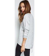 zuma pullover - xs heather grey