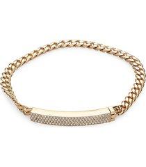 adriana orsini women's goldtone & crystal chain bracelet