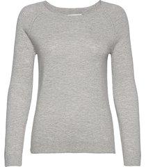 pullover ls gebreide trui grijs rosemunde