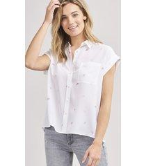 blouse met zeeschelpenprint van zijde