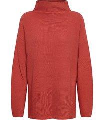 knitted pullover short 1/1 sle stickad tröja röd betty barclay