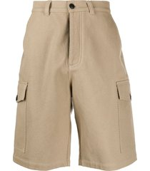 ami paris cotton bermuda shorts - neutrals
