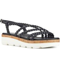 nine west batter braided platform sandals women's shoes