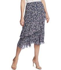 1.state tiered midi skirt