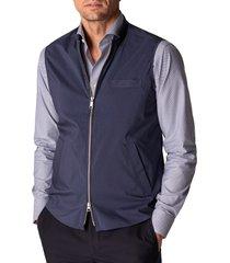 men's eton men's slim fit water repellent wind vest, size xx-large - blue
