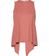 logo ribbed singlet t-shirts & tops sleeveless rosa röhnisch