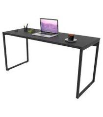mesa de escritório office 150cm estilo industrial prisma preto onix - mpozenato