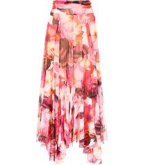 msgm floral-printed skirt